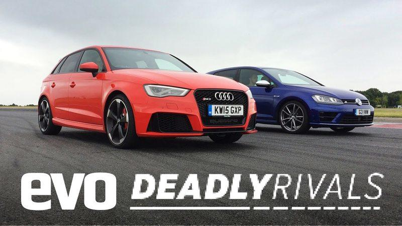 Audi RS3 VS Volkswagen Golf R: Video
