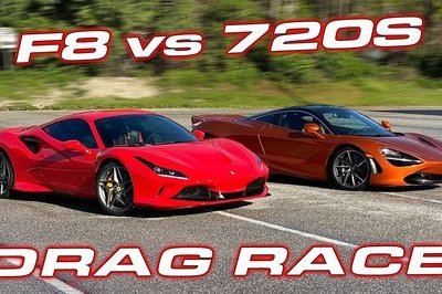 It's Never Boring When You Put a McLaren 720S and a Ferrari F8 On the Quarter-Mile