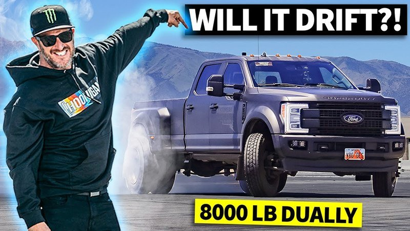 Ken Block Drifts An 8,000-Pound Ford F-450 Dually Because Of Course He Can