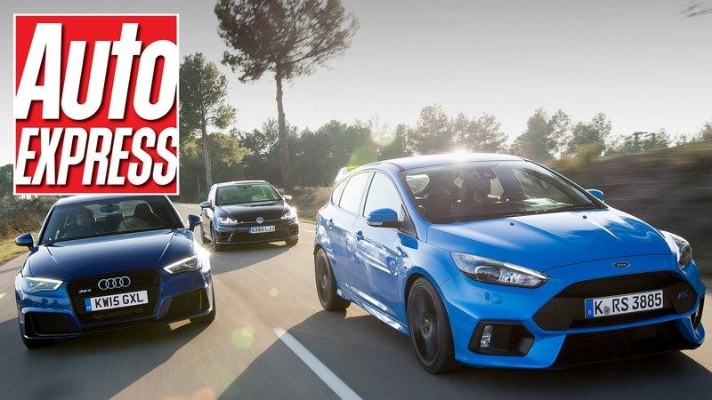 Auto Express Lines Up The Ford Focus RS Against The Audi RS3 And The Volkswagen Golf R: Video