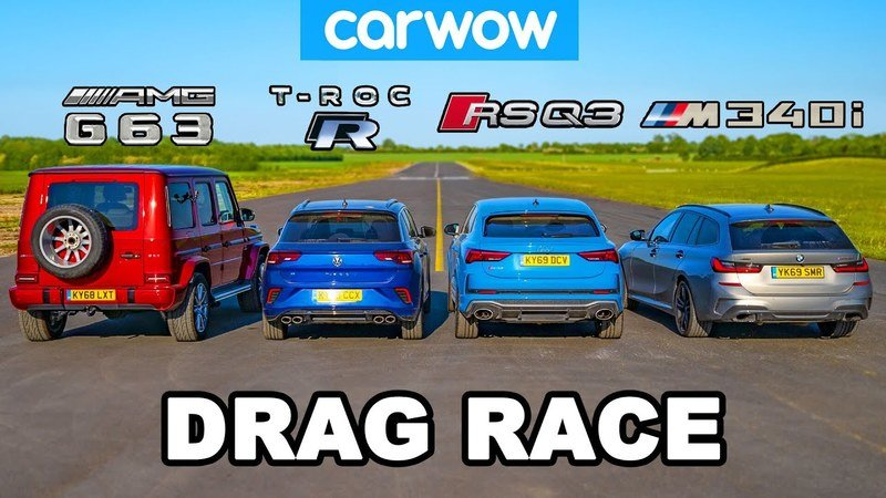 This Drag Race Sports a Very Different-Minded German Car Lineup