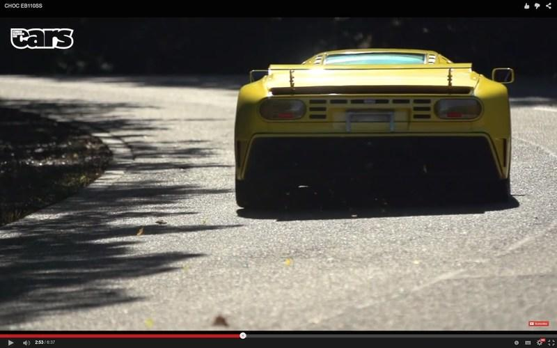 Bugatti EB 110 SS Driven by Chris Harris: Video