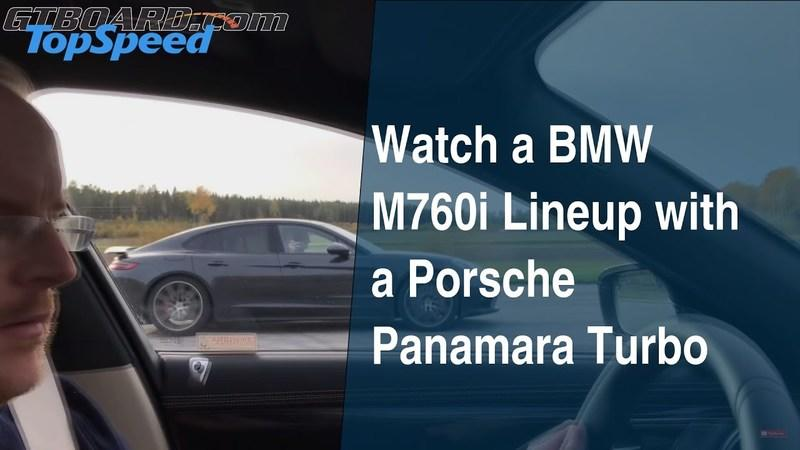 Watch a BMW M760i Lineup with a Porsche Panamara Turbo