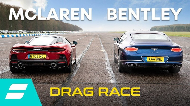 Can the Bentley Continental GT V8 beat the McLaren GT in the quarter mile?
