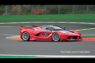 Ferrari FXX K In Action At Spa Francorchamps: Video