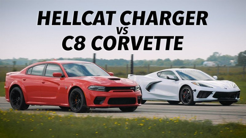 Which Is Quicker? A Chevy C8 Corvette or a Dodge Charger Hellcat?