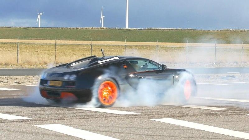 Bugatti Veyron Grand Sport Vitesse Performs Some Mean Donuts: Video