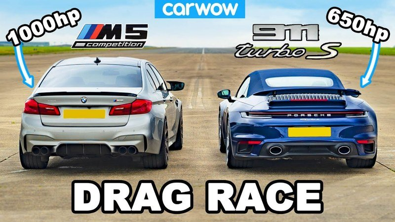 Does a Porsche 911 Turbo S Stand a Chance Against a 1000-Horsepower BMW M5?