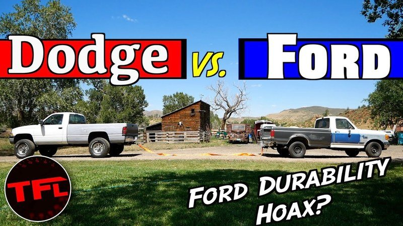 Old-School Showdown: 1991 Ford F-150 vs. 1995 Dodge Ram Tug-of-War