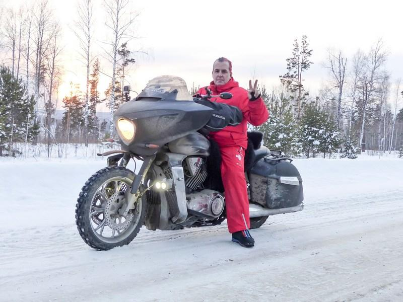 Swiss Rider Eyeing Cross Continent Motorcycle Record