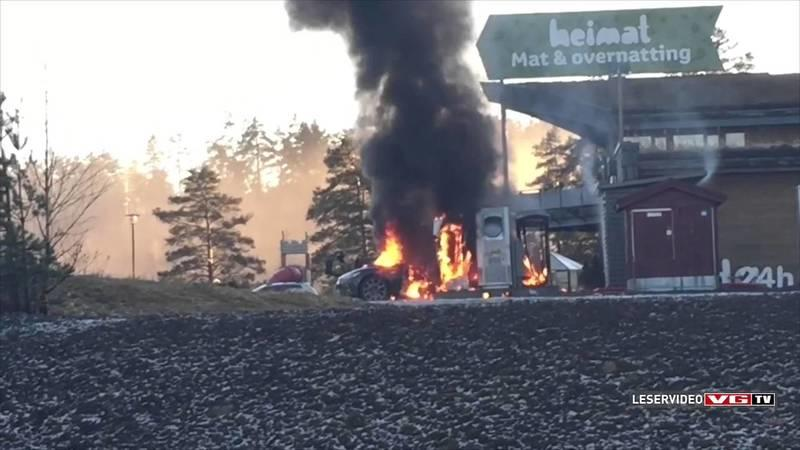 Tesla Model S Burns To Dust At Supercharger Station In Norway