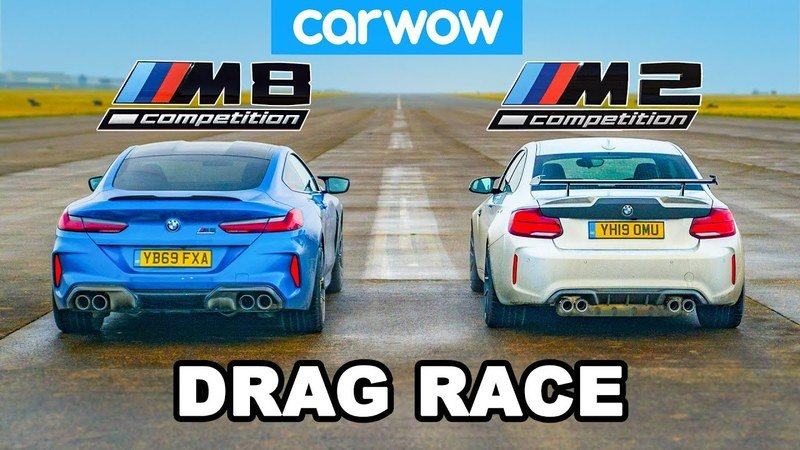 BMW M2 Drag Races BMW M8, The Only Winner Is Bavaria