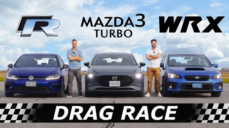 The 2021 Mazda3 Turbo Doesn't Back Down from the VW Golf R or Subaru WRX