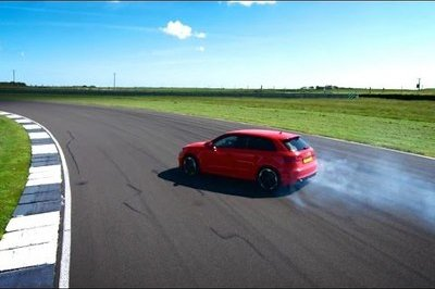 Audi RS3 Demonstration At Anglesey Race Track: Video