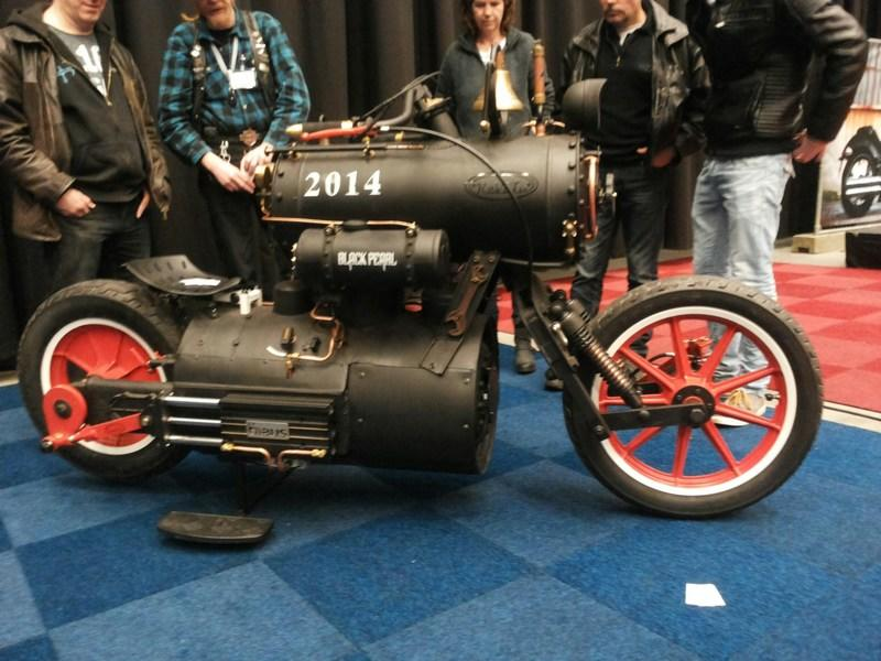 Video: Steam-Powered Custom Motorcycle Takes Retro To A New Level