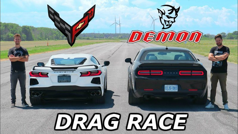 The 2020 Chevy C8 Corvette Will Spank Your Dodge Challenger Demon in a Street Race