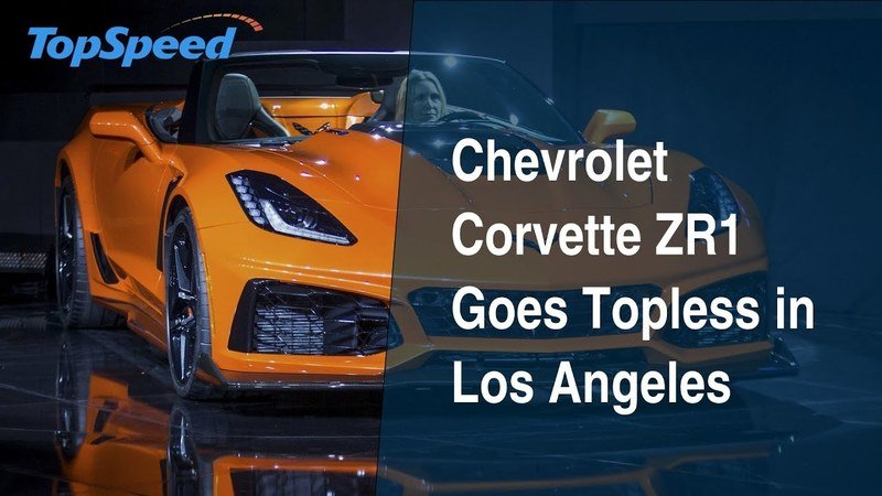 Chevrolet Corvette ZR1 Goes Topless in Los Angeles