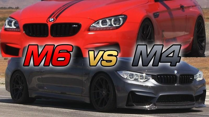 BMW M4 Vs. BMW M6: Video
