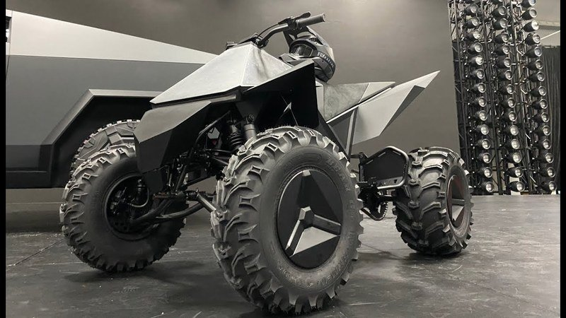 "Tesla unveiled it's rad new ""Cyberquad"" electric ATV prototype at the Cybertruck launch"