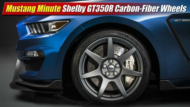 Ford Reveals Details On Shelby GT350R's Carbon Fiber Wheels