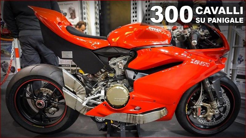 Efesto is developing a 300 hp Ducati 1299 Panigale powered by a hybrid powertrain