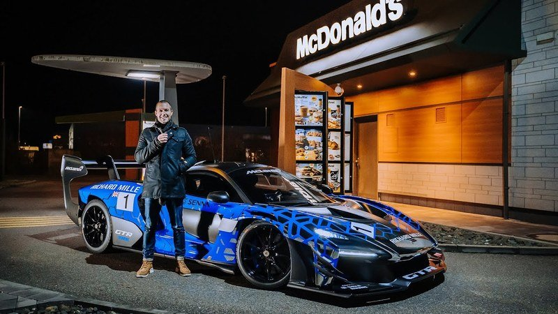 The McLaren Senna GTR Is the Last Car You'd Expect to See at a McDonald's Drive-Thru