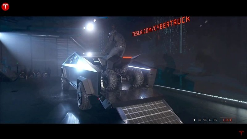 "Tesla unveiled its rad new ""Cyberquad"" electric ATV prototype at the Cybertruck launch"