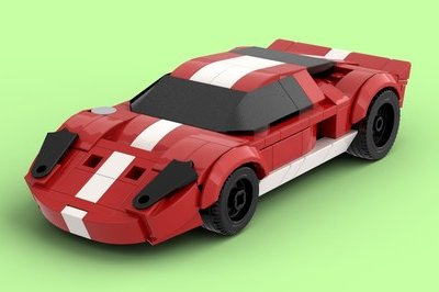 Watching This Ford GT Lego Build Come to Life In Bricklink Studio is Oddly Mesmerizing