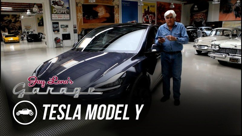Jay Leno Has Nothing Bad to Say about the Tesla Model Y
