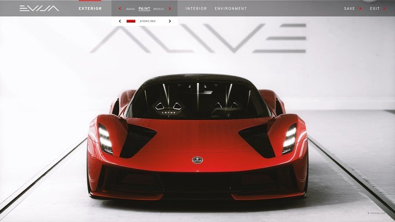 2020 Lotus Evija Configurator - You Want to Play But You Can't!
