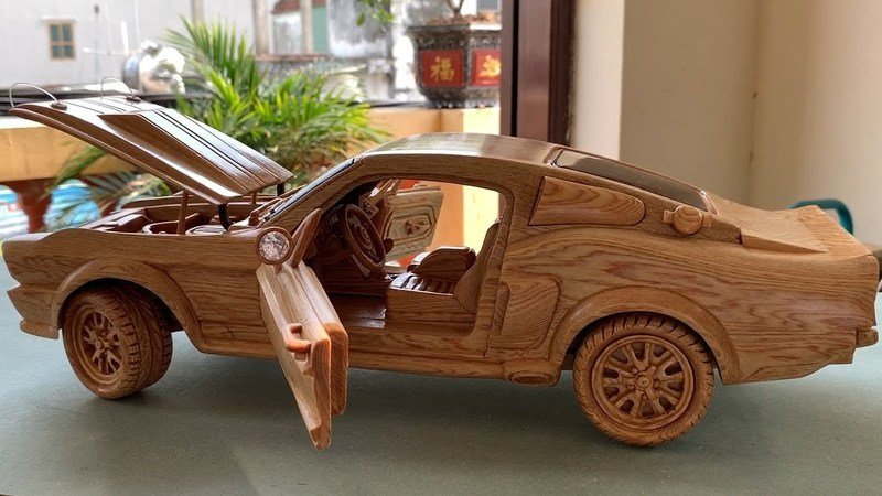 Be Amazed As Someone Painstakingly Carves a 1967 Shelby Mustang GT500 Out of Wood