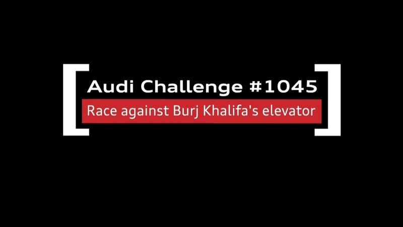 Audi RS7 Vs. Burj Khalifa Elevator: Video