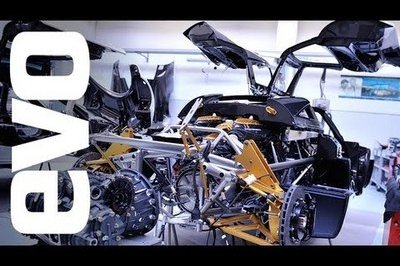 Video: Behind-the-scenes of the Huayra with EVO at the Pagani factory