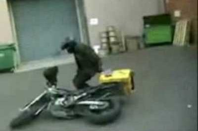 Deliver boy wheelie