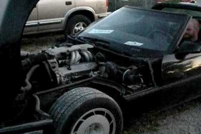 Mechanical Carnage: Corvette Meets an Untimely Death