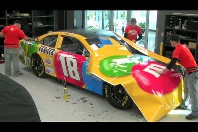 Video: This Is How You Wrap A NASCAR Race Car With Sponsorship Logos