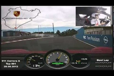 Video: Porsche 911 Carrera S laps the Nurburgring in 7:37