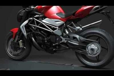 Video: 2010 MV Agusta Brutale chassis details