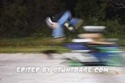 How not to jump over a speeding motorcycle