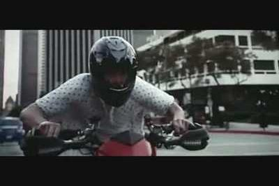 "Jim Carrey rides a Ducati Hypermotard 1100 in ""Yes Man"""