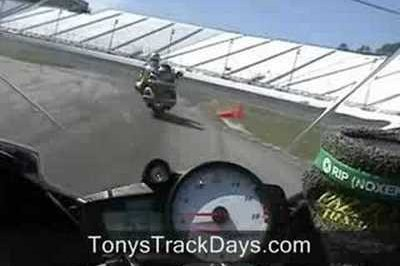 Honda Goldwing takes on the race track!