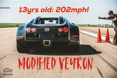 Father Of The Year Lets 13-Year-Old Son Go 202 MPH In His Bugatti Veyron: Video
