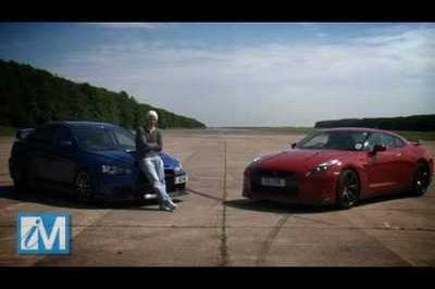 Video: Mitsubishi Evo X FQ400 vs Nissan GT-R