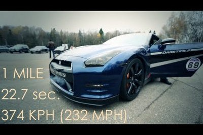 Video: Nissan GT-R Blows 0-186 MPH in 12.8 Seconds