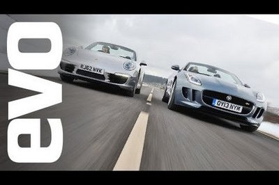 Video: Jaguar F-Type vs Porsche 911 Cabrio