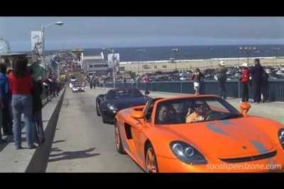 Video: Two Porsche Carrera GTs burning rubber at recent supercar rally in LA