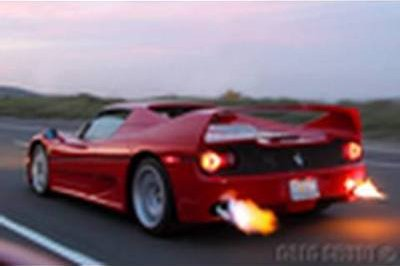 Video: Ferrari F50 sparks flames from exhaust