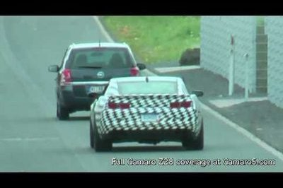Video: 2012 Chevrolet Camaro Z28 spied at the Nurburgring