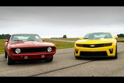 Video: 2012 Camaro ZL1 vs. 1969 Camaro