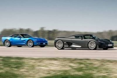 Koenigsegg CCR Evo destroys Chevrolet Corvette ZR1 in drag race
